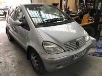 Cheap car of the day, Mercedes A140, starts and drives well, car located in Gravesend Kent, no MOT,