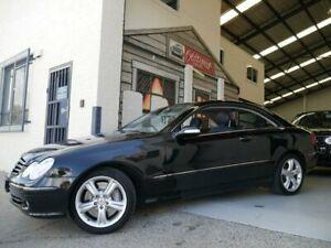 2005 Mercedes-Benz CLK-Class C209 MY05 CLK500 Avantgarde Obsidian Black 7 Speed Sports Automatic