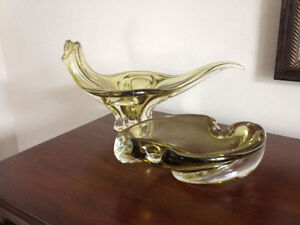 Vintage blown glass set / Ensemble verre soufflé - Chalet Canada