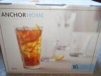 ANCHOR HOME beverage set, glasses