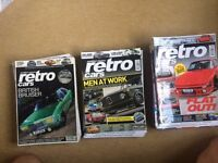 Retro Cars magazines for sale