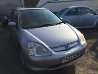 2001 Honda Civic, starts and drives well, MOT until 26th April, car located in Gravesend Kent, any q
