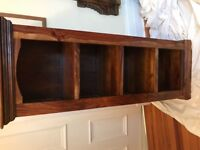 Solid Wood Mahogany and Metal Bookcase