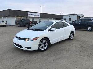 2007 Honda Civic Cpe LX Great on gas! Very clean!