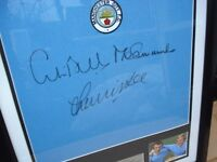 Genuine Framed Manchester City Soccer shirt - signed personally by BELL SUMMERBEE AND LEE