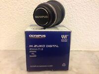 Olympus M.ZUIKO DIGITAL micro 43, 45mm f1.8 Lens (black)