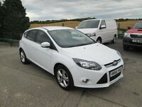 2013 FORD FOCUS 1.6 TDCI 30K WHITE £0 ROAD TAX