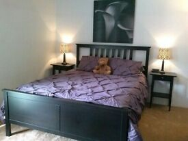 Black IKEA Hemnes standard kingsize bed frame - I can deliver