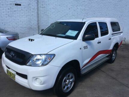 2010 Toyota Hilux KUN26R 09 Upgrade SR (4x4) White 5 Speed Manual Dual C/Chas