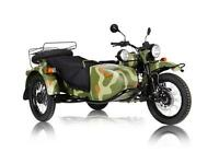 URAL GEAR UP 2WD WOODLAND CAMO CUSTOM-MOTEUR/TRANNY NOIR.