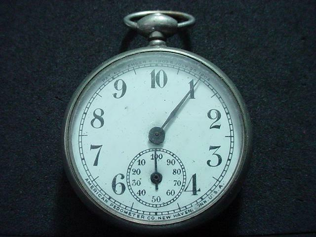 NobleSpirit  American PEDOMETER Co Brand 1903-04 Pedometer w/10 & 100 Mile Dials