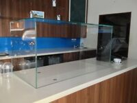 Thick Glass Display Cake Cabinet Protection great for coffee shops cafe