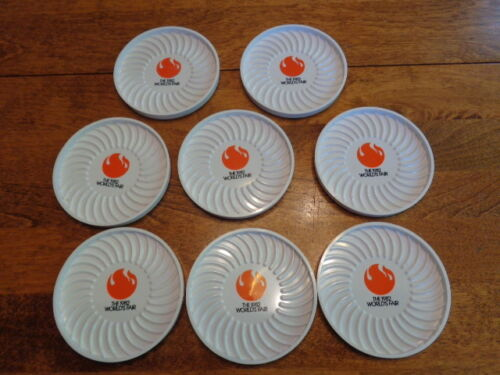 1982 WORLD'S FAIR PLASTIC COASTERS LOT OF 8 MADE IN U.S.A.