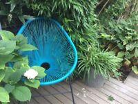 Lima Rattan Armchair - Blue