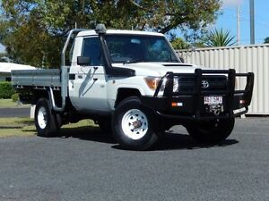 2008 Toyota Landcruiser VDJ79R Workmate French Vanilla 5 Speed Manual Cab Chassis Dalby Dalby Area Preview