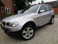 *** UNMARKED FAULTLESS BMW X3 2.0 D SE 5 DOOR 6 SPEED MANUAL WITH FSH ***