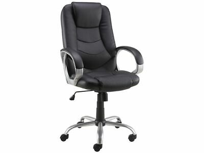 Staples Darcy Bonded Black Leather Executive Office Chair, New +24h Delivery