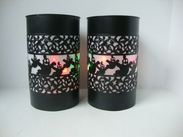 Halloween Ghost Lanterns Set of 2 Color Changing Lights Party Table Decor