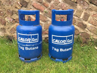 x2 Calor Gas 7kg Butane Gas Bottles (1 half full)
