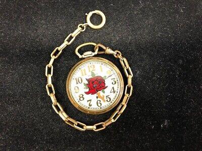 Vintage Standard Mechanical Wind Up Pocket Watch WORKS