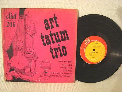 EXTREME RARE JAZZ ART TATUM TRIO 10 INCH VINYL RECORD DIAL LABEL