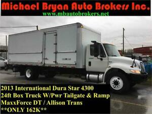 2013 INTERNATIONAL DURA STAR 24FT BOX TRUCK W/ TAILGATE + RAMP