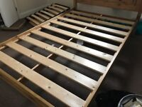 Small 4ft double bed - pine - very condition