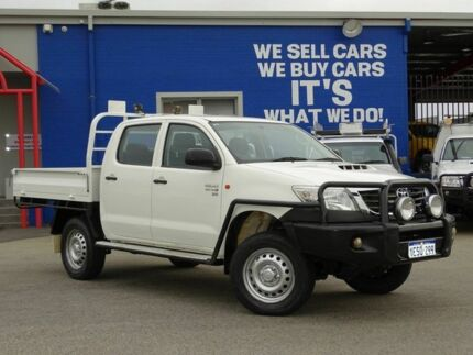 2015 Toyota Hilux KUN26R MY14 SR Double Cab White 5 Speed Automatic Cab Chassis Welshpool Canning Area Preview