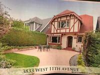 W11th Ave UNFURNISHED house, minutes to UBC