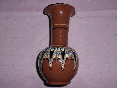 Bulgarische Keramik-Vase - ca. 15 cm hoch -