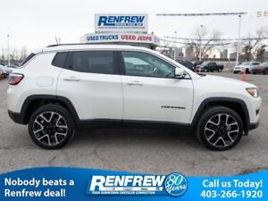 2018 Jeep Compass Limited 4x4, Panoramic Sunroof, Navigation, Be