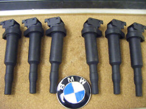 New Set of 6 Ignition Coil w Spark Plug Connector BMW 0221504470