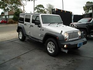 2012 Jeep Wrangler Unlimited JK MY12 Sport (4x4) Silver 5 Speed Automatic Softtop Villawood Bankstown Area Preview