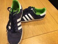 ADIDAS GAZELLE TRAINERS SIZE UK 4 - LIGHTLY WORN, EXCELLENT CONDITION