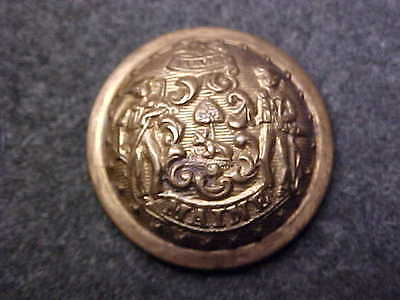 RARE MAINE BRASS STATE SEAL MILITIA 7/8 DOMED BUTTON MARKED MC LILLEY COLUMBUS