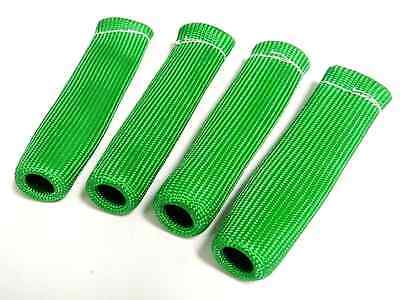 VMS GREEN 4 SPARK PLUG WIRE BOOT HEAT SHIELD PROTECTOR SLEEVE SLEEVING FUEL OIL