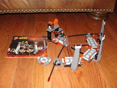 """STAR WARS LEGO SET #7257 EPISODE III """"ULTIMATE LIGHTSABER DUEL"""" & MANUAL 2005"""