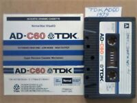 £2.50 +FP&P TDK AD 60 ACOUSTIC DYNAMIC CASSETTE TAPES 1979-1981 JOB LOT OR SOLO