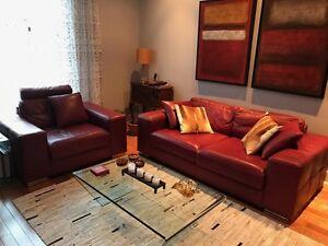 Causeuse et Sofa en cuir - SUPERBE