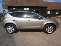 0555 NISSAN MURANO 3.5 V6 AUTOMATIC 4X4 1 OWNER 82K FSH 10 SRVC STAMPS CHAMPAGNE