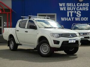 2013 Mitsubishi Triton MN MY13 GLX Double Cab 4x2 White 4 Speed Sports Automatic Utility Welshpool Canning Area Preview