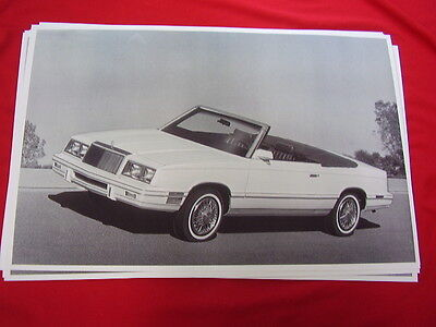 1982 CHRYSLER LEBARON ?  CONVERTIBLE    BIG  11 X 17   PHOTO   PICTURE