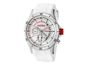 Red Line Men's RL-50021-02-WHT Tech Silver Dial White Watch