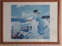 ALBERT MAIGNAN 34 x 26 inch print in pine frame