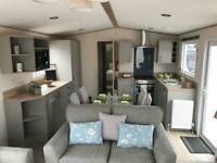 new 2021 8 berth static caravan for sale at Trecco Bay in Porthcawl