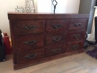 Beautiful, high quality re-production 9 drawer chest.