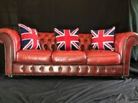 Super Leather Chesterfield sofa reception lobby conservatory home seating