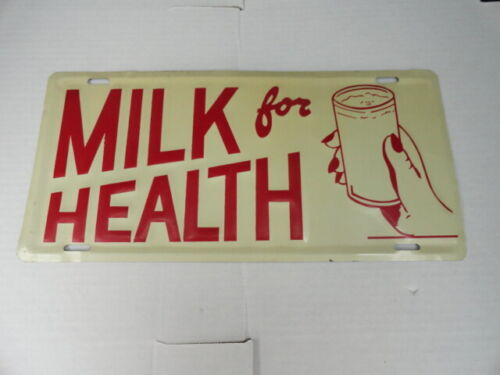 Vintage Milk For Health Sign Vintage Advertising 13.5 in X 6.5 in