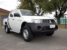 2009 Mitsubishi Triton ML MY09 GLX (4x4) White 4 Speed Automatic 4x4 Dual Cab Utility Manningham Port Adelaide Area Preview