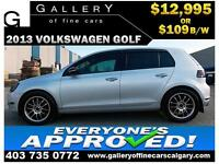 2013 Volkswagen Golf 2.5L $109 bi-weekly APPLY NOW DRIVE NOW